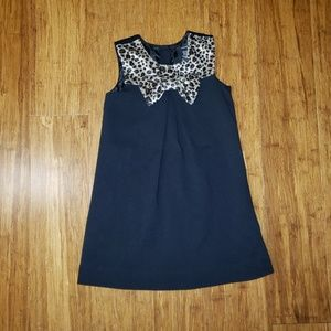 Tahari Black and leopard print bow dress 4T